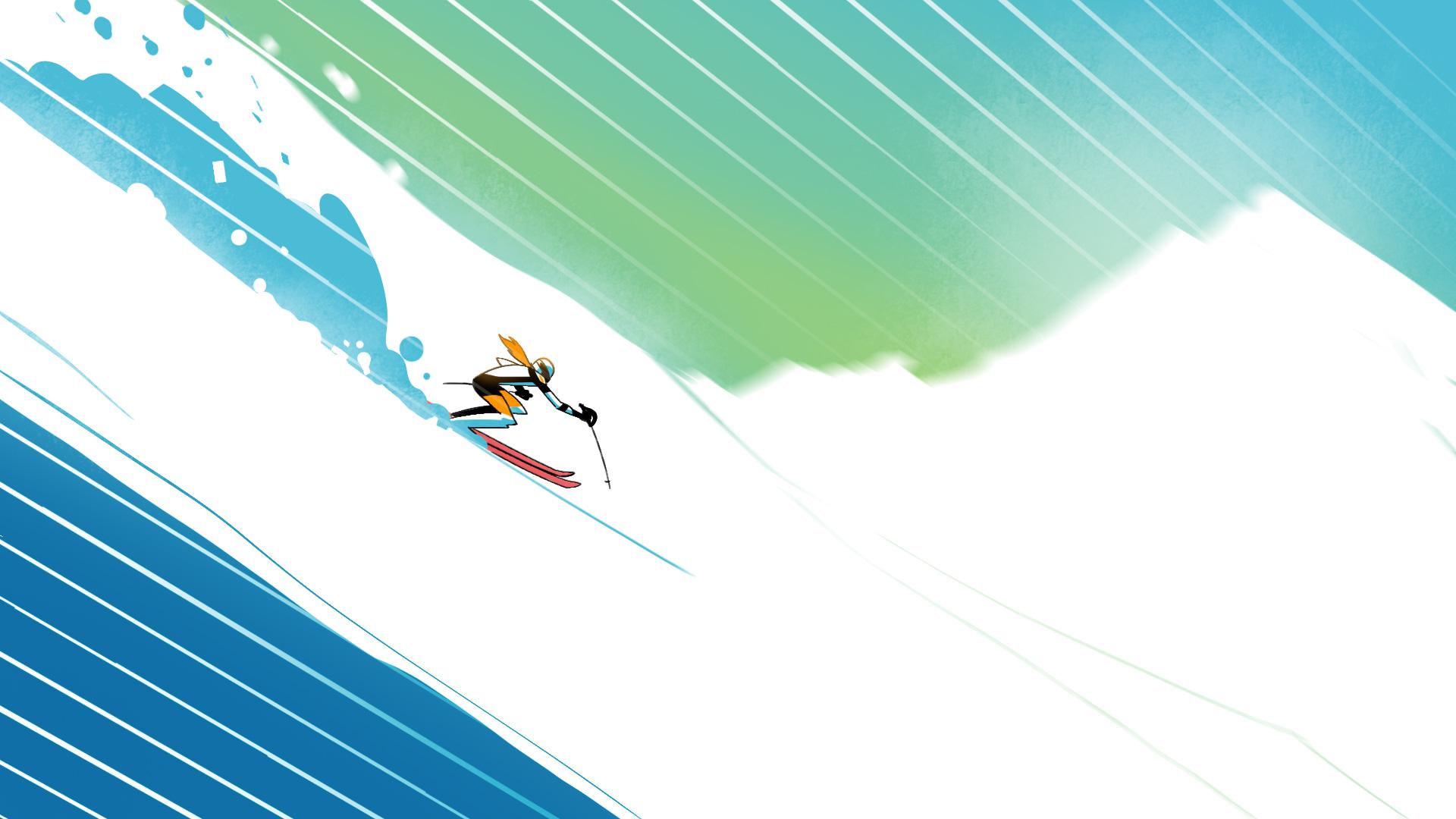 6 von 7, Styleframe erstellt als Teil eines Pitches zur ZDF Winterolympiade zusammen mit Bitteschön.TV
