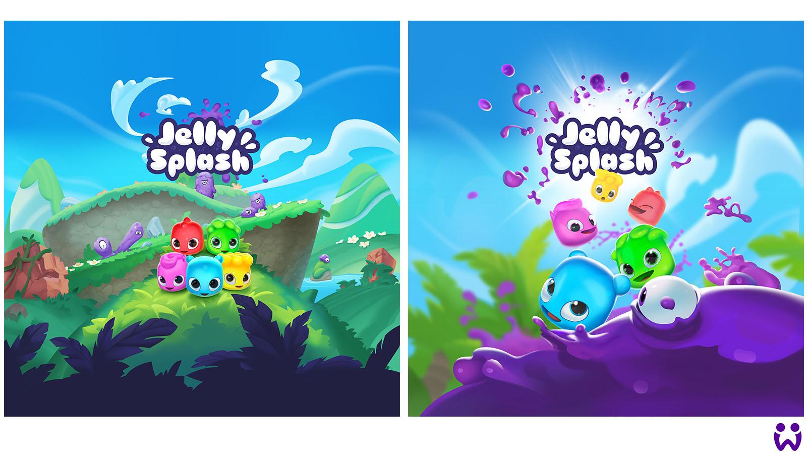 2 Marketingillustrationen für Wooga's Mobilegame Jelly Splash.
