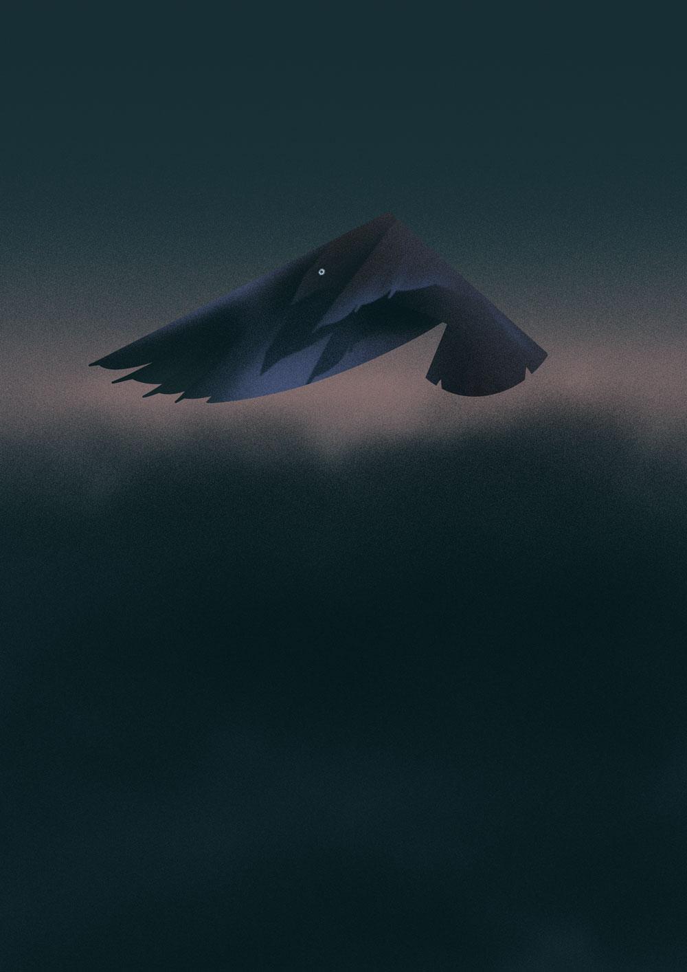 Stark abstrahierte Darstellung eines Buchfinks