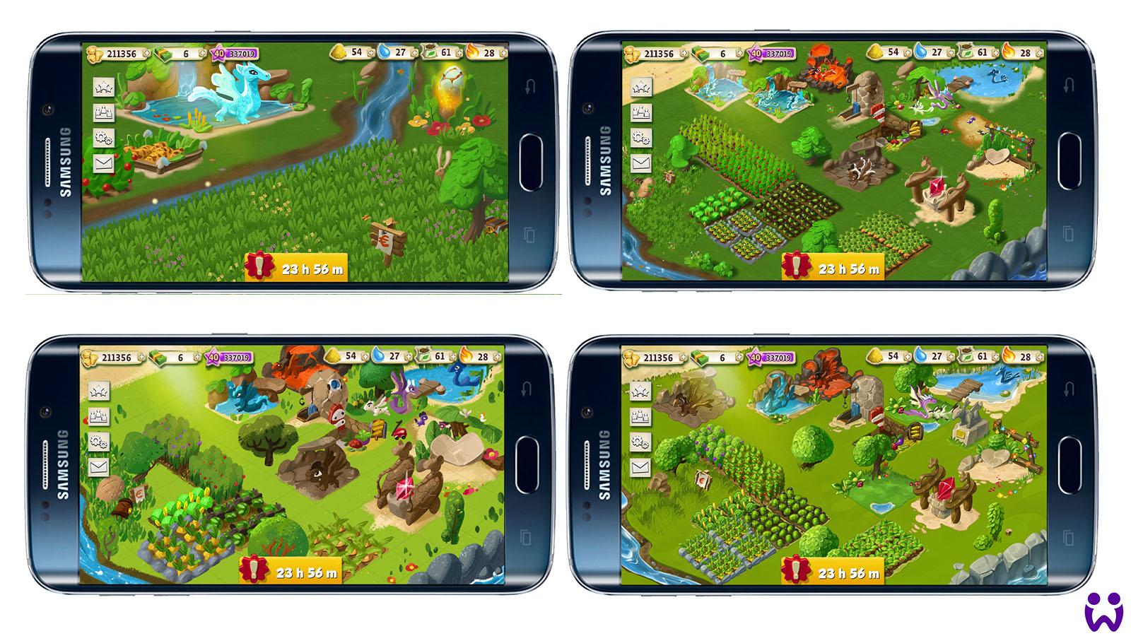 """1 von 25, Erste freie Stilexperimente für das Mobilegame """"Wonderlings"""" von Wooga"""