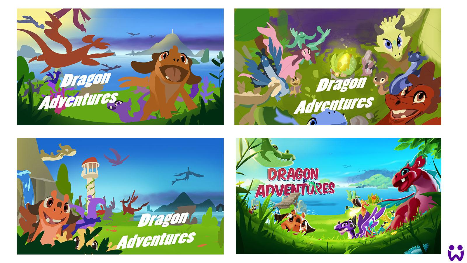 """5 von 25, Skizzen und erstes Keyimage zur internen Verwendung für das Mobilegame """"Wonderlings"""" von Wooga"""